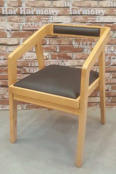 Ghế cà phê gỗ tự nhiên