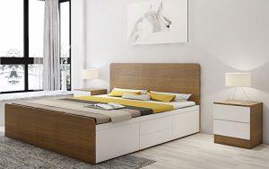 – Vệ sinh giường ngủ thường xuyên bằng khăn mềm và dung dịch vệ sinh chuyên dụng dành cho mặt gỗ. Việc này giúp làm sạch bụi bẩn, tăng độ bóng và tuổi thọ cho giường ngủ. – Đặt giường ngủ tại nơi khô thoáng, tránh độ ẩm cao, tránh nhiệt độ cao và các vật dễ cháy. – Tránh để giường ngủ tiếp xúc với nước và nhiệt độ cao trong thời gian dài. – Không dùng vật sắc nhọn chà xát sản phẩm.