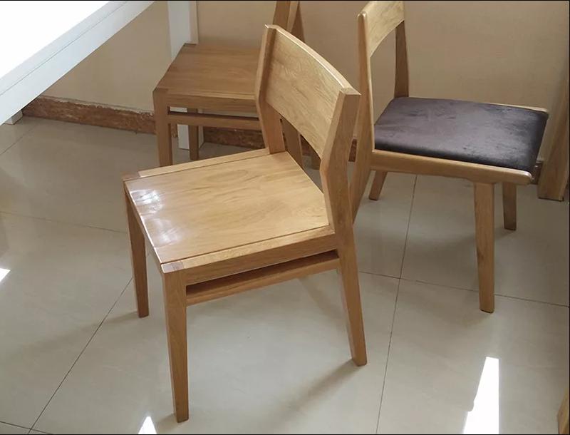 Ghế cà phê gỗ sồi tự nhiên cao cấp