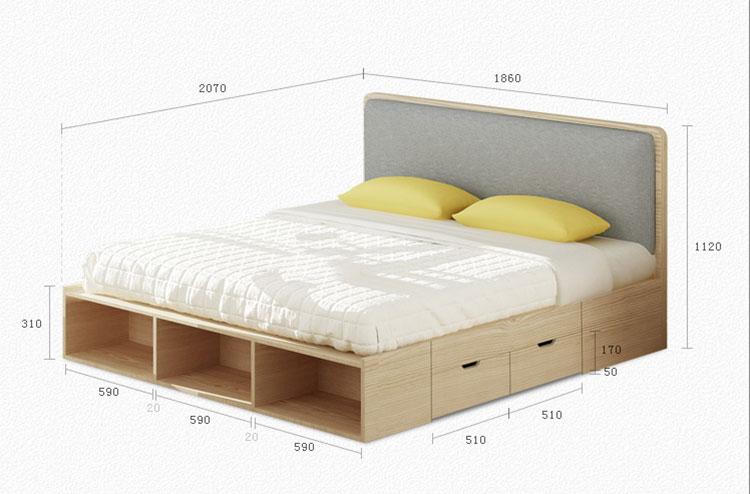 Thông số kỹ thuật mẫu giường ngủ mã GN05