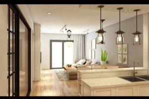 Hoàn thiện thiết kế nội thất 200 triệu cho căn hộ 100m2