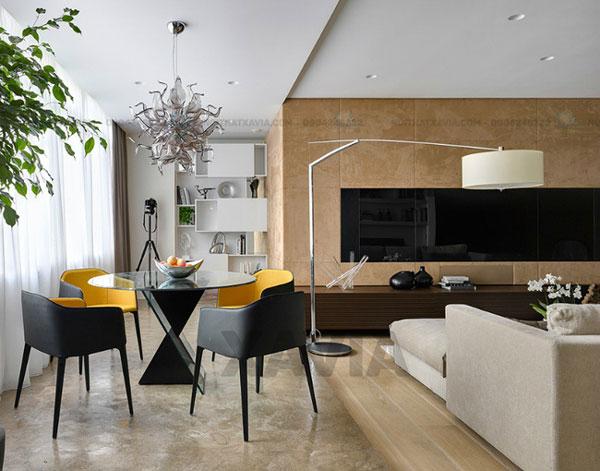 Hút mắt với thiết kế và trang trí nội thất nhà ở với tone màu be