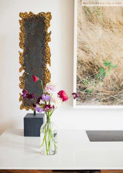 Trang trí hoa tươi cho không gian sống