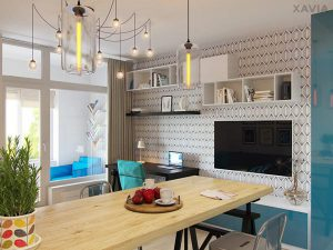 Thiết kế nội thất căn hộ 30m2 sang chảnh mà đầy đủ tiện nghi