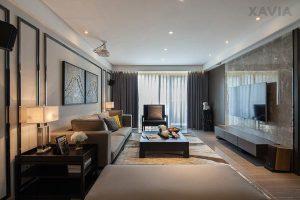 Thiết kế nội thất căn hộ chung cư 95m2 Time City đẹp đầy nam tính