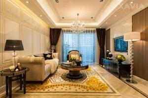 Thiết kế nội thất chung cư 120m2 – 3 phòng ngủ tân cổ điển Royal City