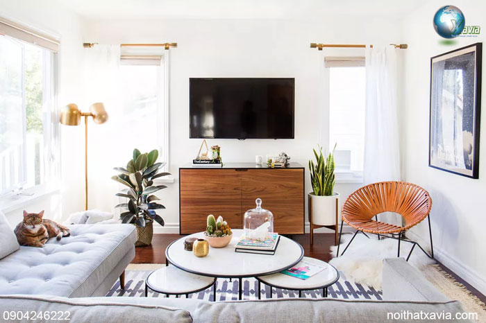 15 mẫu trang trí không gian nội thất phòng khách hẹp
