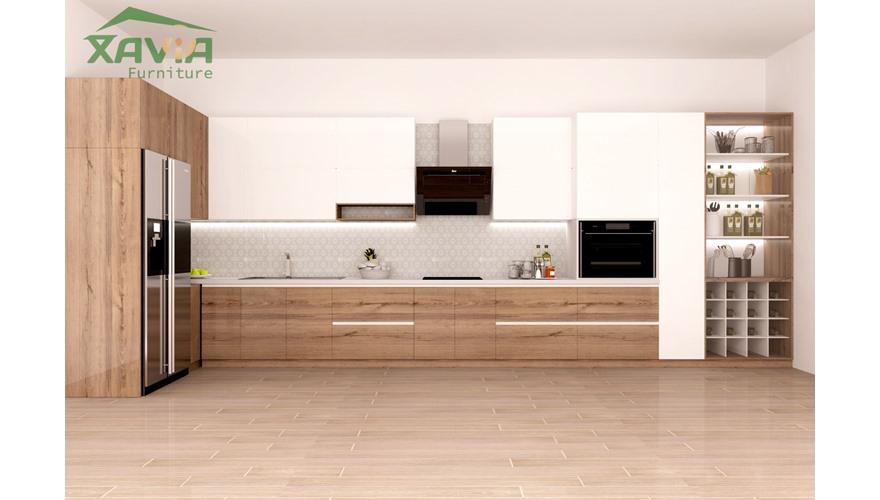 Tủ bếp nhà phố Nam Từ Liêm- thiết kế và thi công trọn gói – Chị Miền
