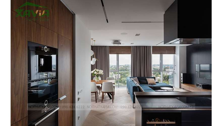 Nội thất chung cư Dimond Flower 118m2 – thiết kế thi công nội thất trọn gói