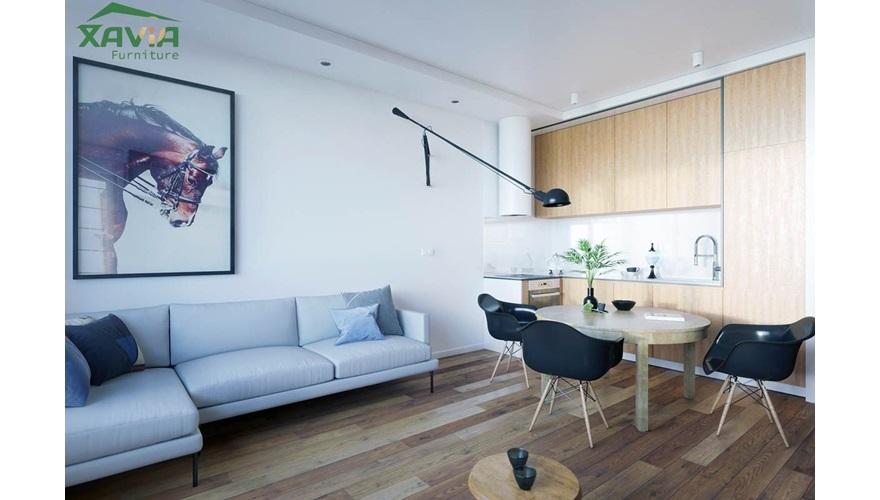 Thi công nội thất chung cư 80m2 Mulberry Land – Hà Đông