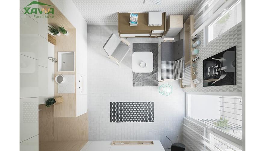 Thiết kế nội thất chung cư nhỏ 50m2 – The Zei Lê Đức Thọ – Mỹ Đình