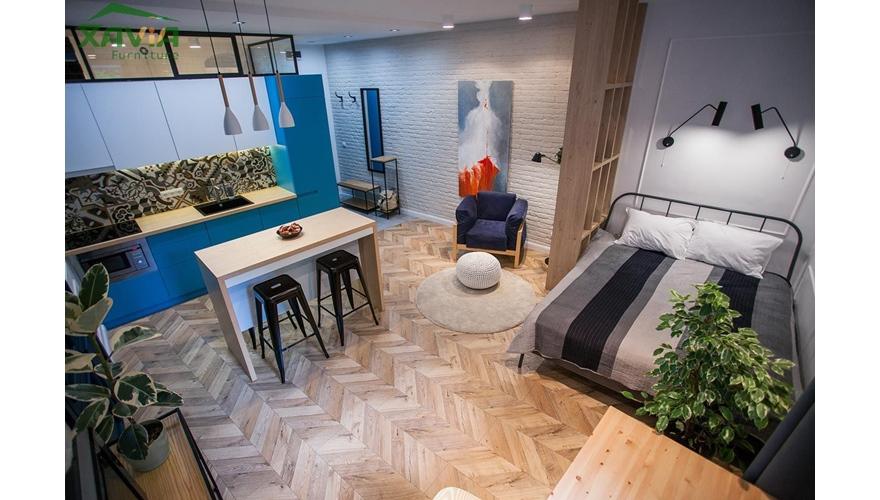 Thiết kế nội thất chung cư nhỏ – xanh nước biển – Thanh Xuân – Hà Nội